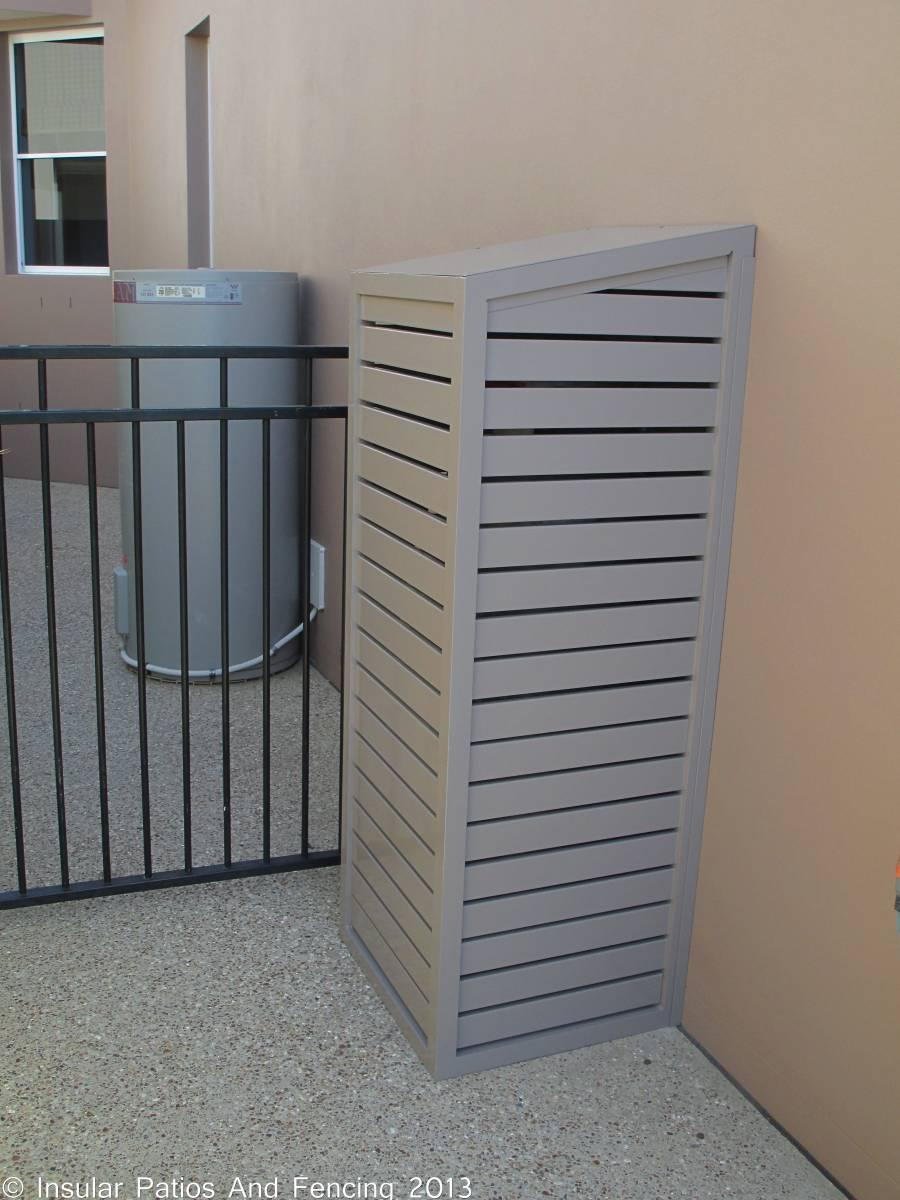 aluminium pool and gas bottle enclosure covers