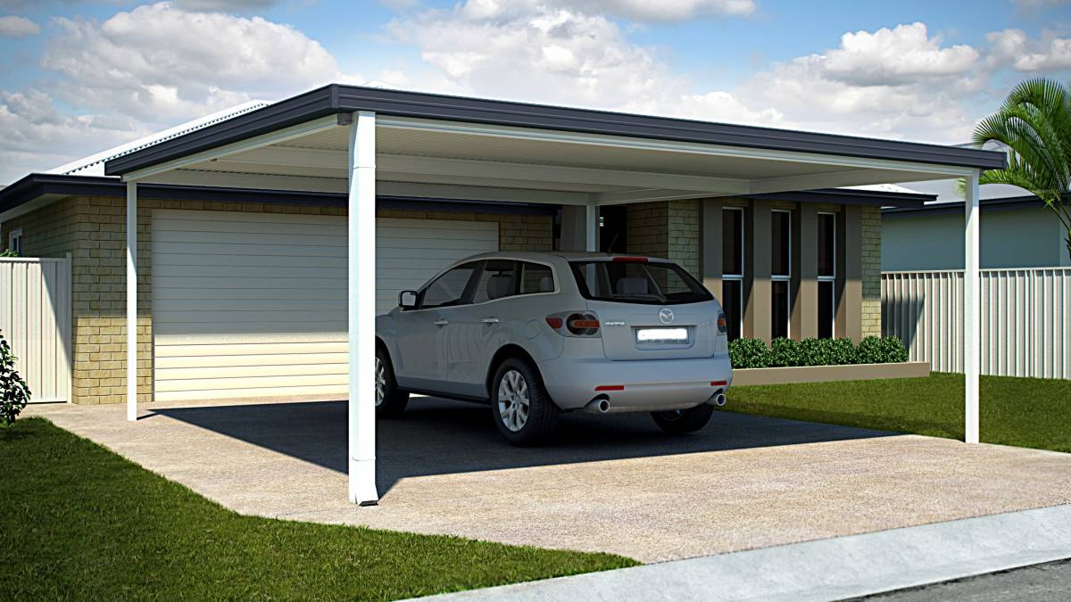 Flat Roof Carport Designs