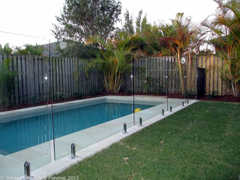 Frameless Glass Pool Fencing Oxenford Gold Coast Insular Patios Fencing