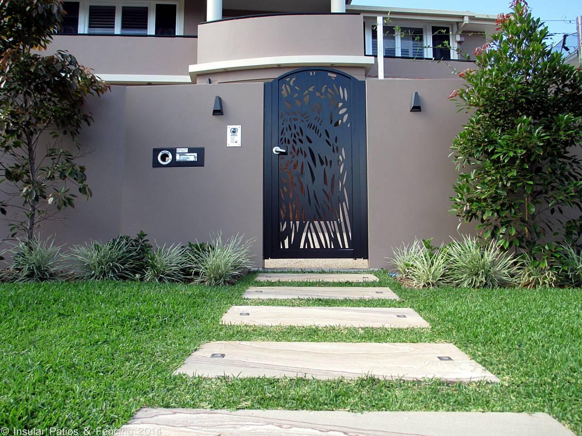 Laser Cut Front Entrance Gates Gold Coast Insular