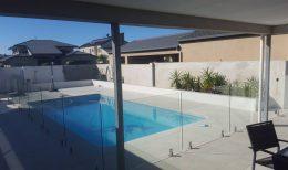 Frameless glass pool fencing - square spigots (7)
